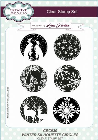 Winter Silhouette Circles A5 Clear Stamp Set